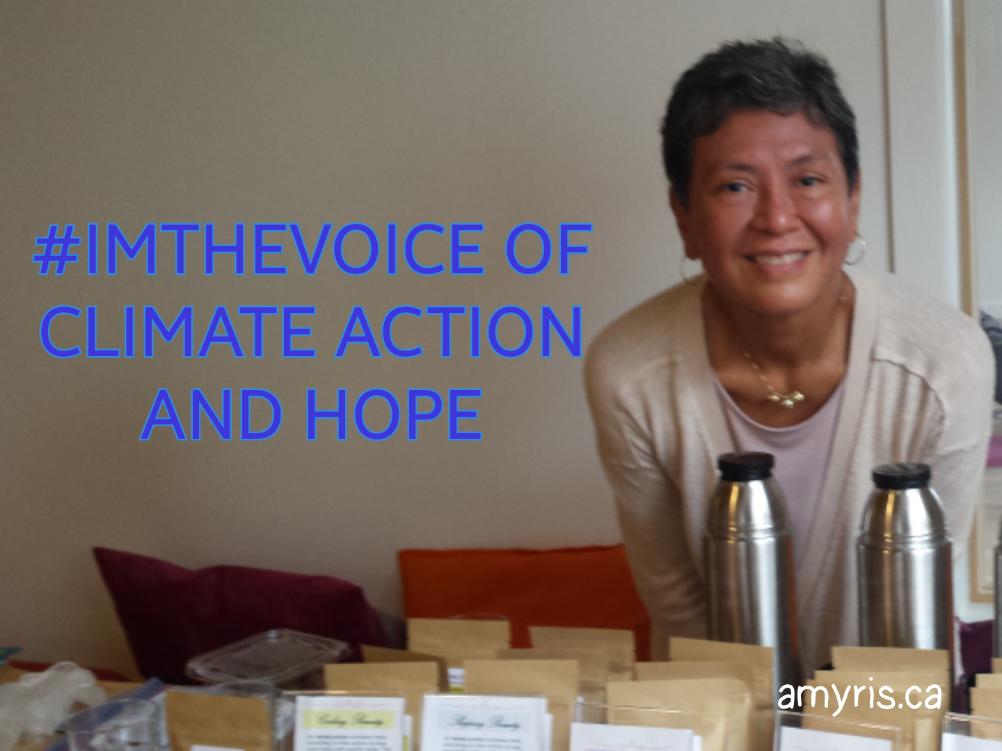 I am the voice of climate change and hope